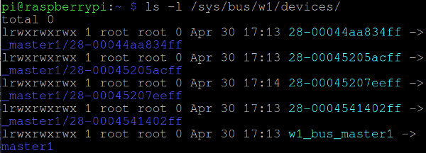 ls -l /sys/bus/w1/devices/