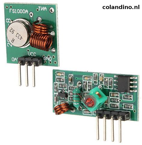 De RF 433 MX05V & FS1000A modules