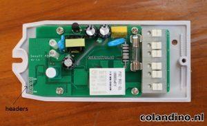 Zodra er ondersteuning door ESPeasy en de mogelijkheid om deze in Domticz te lezen, kunnen we hier de headers solderen.