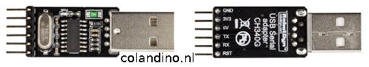 RobotDyn® USB Serial Adapter CH340G 5V/3.3V USB to Ttl-uart