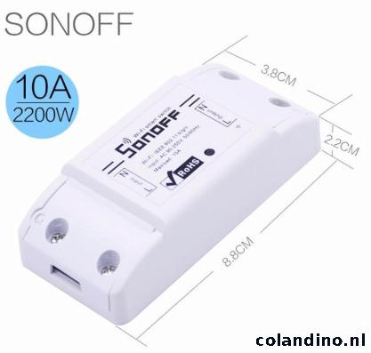 Sonoff Basic Wifi Schakelaar 10A - 2200W Wifi Relais Module